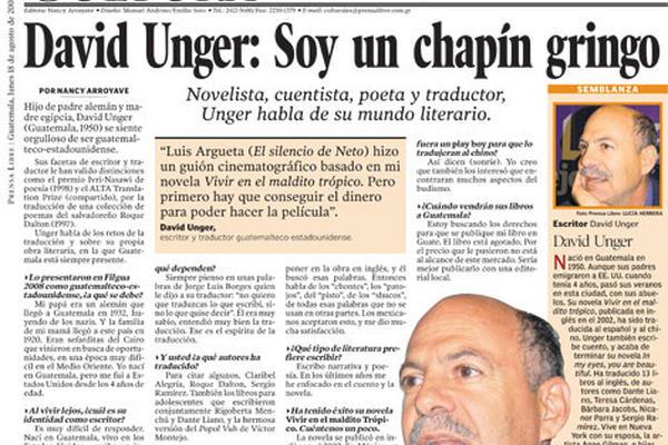 David Unger: Soy un chapín gringo. (Foto Prensa Libre: Archivo)