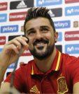 David Villa durante la conferencia de prensa de la selección española en Las Rozas. (Foto Prensa Libre: EFE)