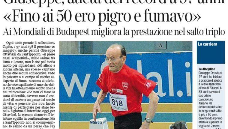 Los diarios italianos resalta la participación de Giuseppe Ottaviani en los máster de atletismo. (Foto Prensa Libre: internet)