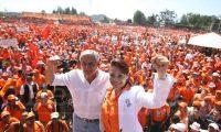 El exbinomio presidencial Otto Pérez Molina y Roxana Baldetti llegaron al poder con el Partido Patriota en el 2011. (Foto Prensa Libre: Hemeroteca PL)