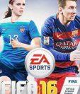 Morgan y Messi derrochan talento en la portada de la nueva edición del videojuego. (Foto Prensa Libre: FIFA 16)