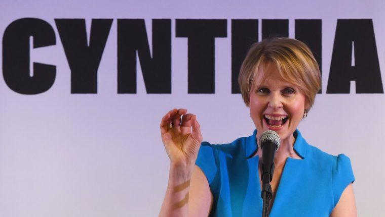 Cynthia Nixon, como candidata a gobernadora, se ha propuesto transformar el panorama social de Nueva York (Foto Prensa Libre: AFP).