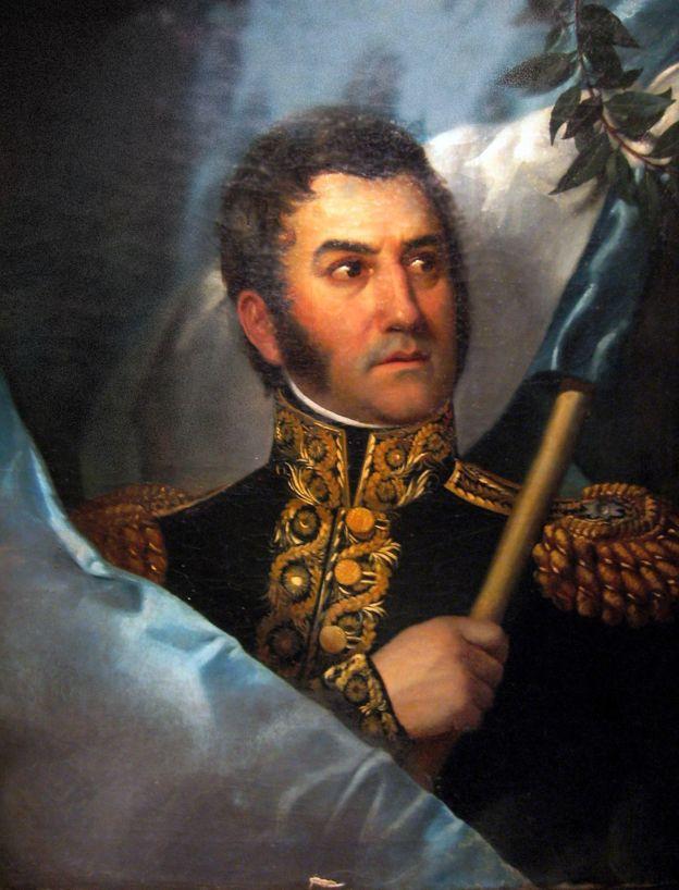 El argentino José de San Martín es también conocido como El Libertador de Argentina, Chile y Perú. (Museo Histórico Nacional de Argentina)
