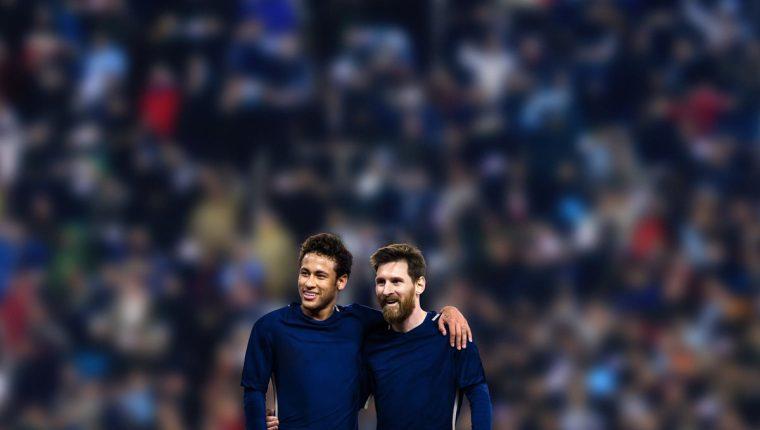 Neymar Jr. y Messi se unen para apoyar a los niños y buscar alimentos. (Foto Prensa Libre: Mastercard)