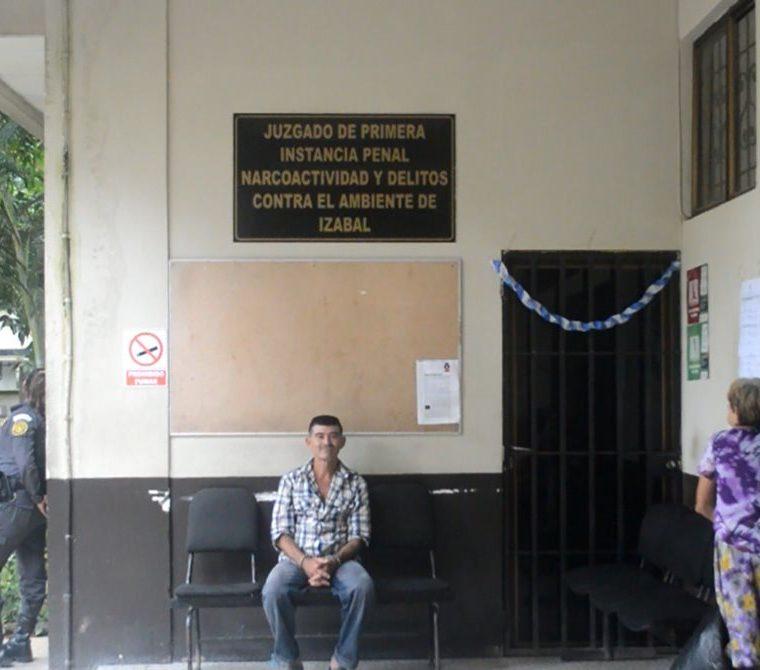 Karla María Rosa Chinchilla fue escuchada en Juzgado Pluripersonal de Primera Instancia Penal, Narcoactividad y Delitos Contra el Ambiente de Izabal. (Foto Prensa Libre: Dony Stewart)