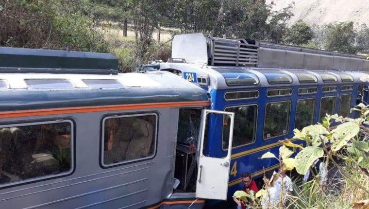 Al menos 6 heridos tras choque de trenes camino a Machu Picchu en Cusco, Perú.