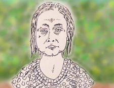 Jakeline Caal, en los dibujos de Jim Carrey (Foto Prensa Libre: Twitter / Jim Carrey).