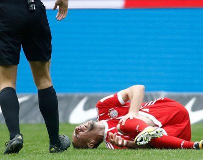 El mediocampista Frank Ribery sufrió una lesión en el partido frente al Hertha de Berlín. (Foto Prensa Libre: AFP)