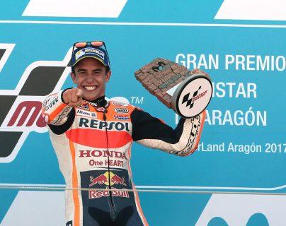 Márquez lidera en solitario el Mundial de MotoGP al ganar el GP de Aragón