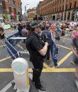 El medio maratón de Mánchester se destacó por su incrementada vigilancia. (Foto Prensa Libre: AFP)