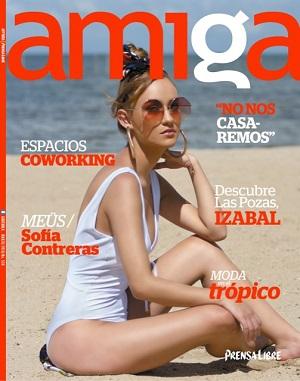 Esta es la portada de la edición de marzo, en la que se visualiza una Amiga fresca y renovada. (Foto Prensa Libre: Esbin García)