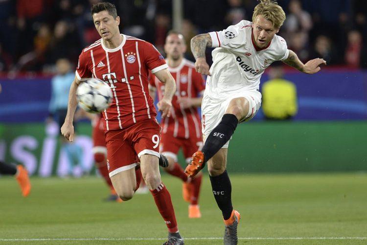 El Sevilla no aprovecho la localía y tendrá que buscar la clasificación a semifinales en Múnich. (Foto prensa Libre: AFP)