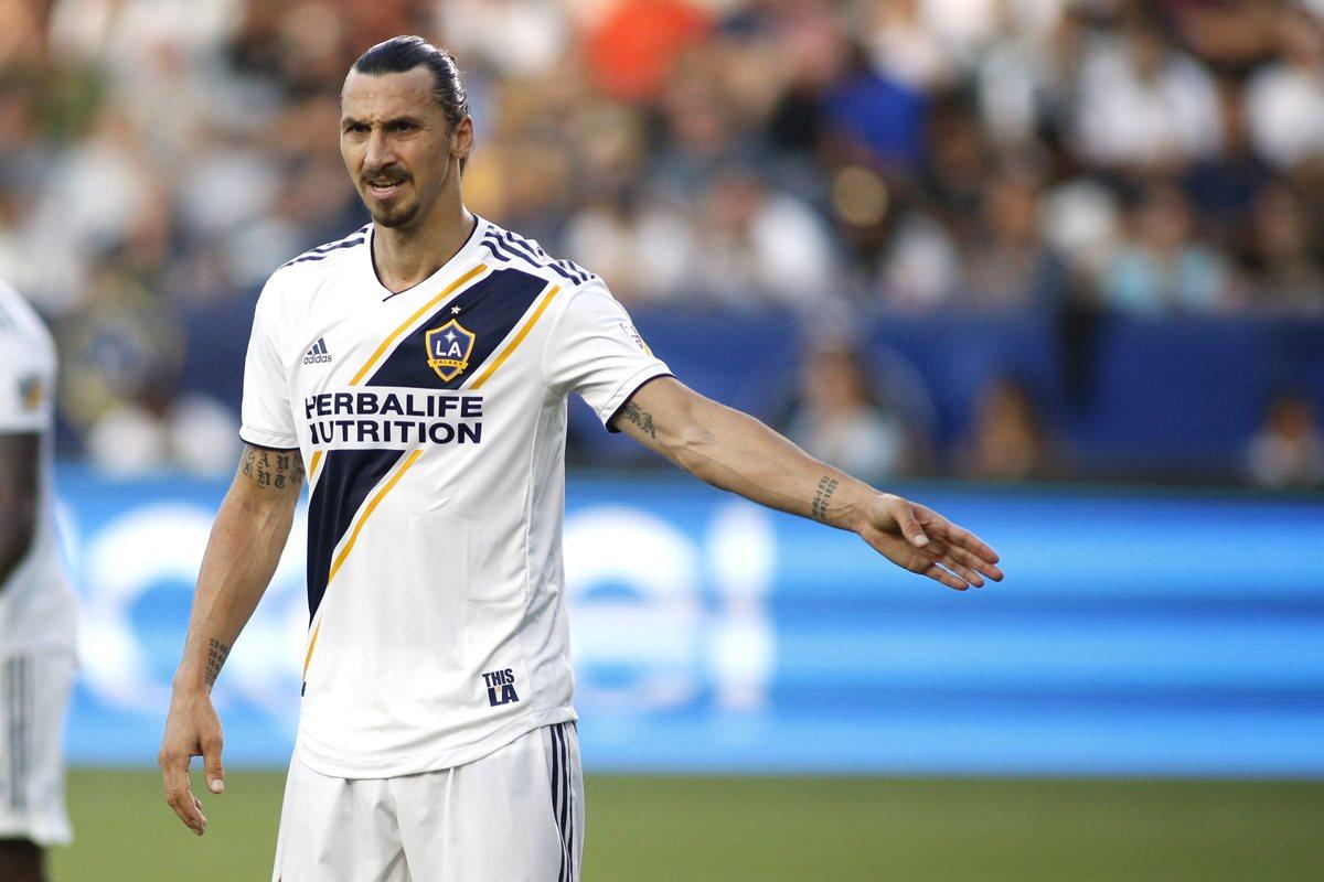 Zlatan Ibrahimovic, con 36 años, está cumpliendo con una gran temporada en la MLS. (Foto Prensa Libre: AFP)