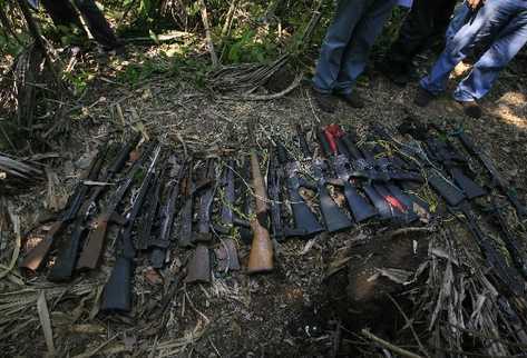 Autoridades han decomisado gran cantidad de armas de fuego  al crimen organizado.