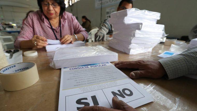 En la consulta popular se decidirá el futuro del diferendo con Belice el próximo 15 de abril. (Foto Prensa Libre: Estuardo Paredes)