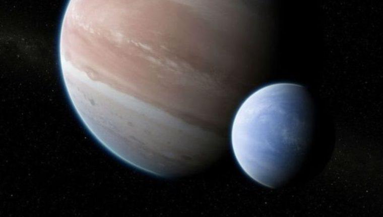 Esta es una ilustración del artista Dan Dura. No hay nada como esta pareja en nuestro sistema solar.