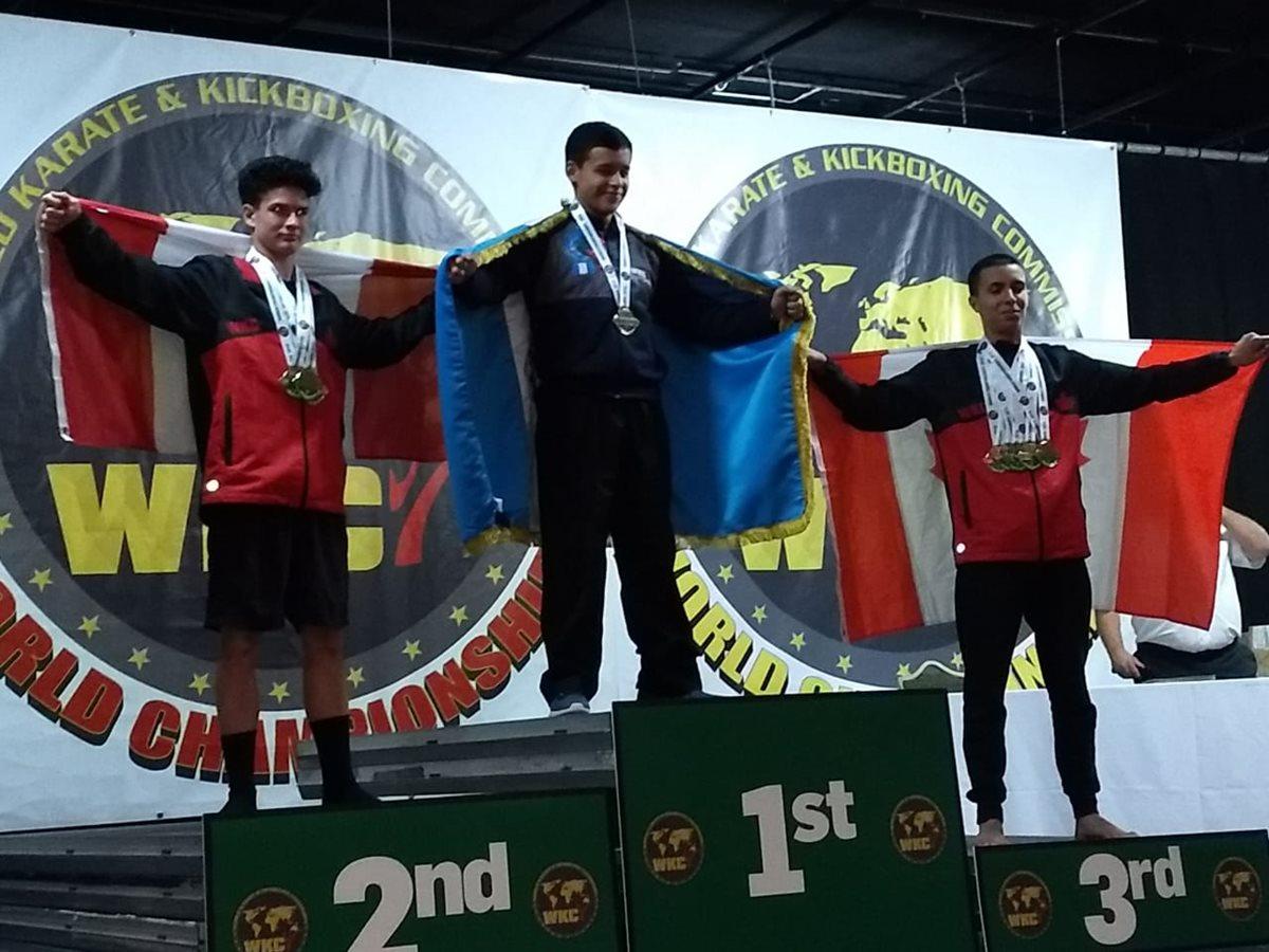 Quetzalteco conquista tres medallas en el Mundial de Karate WKC en Irlanda