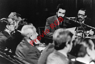 El fiscal  Julio Cesar Strassera cuando en 1985 participó en  los alegatos contra el exdictador Jorge Rafael Videla.