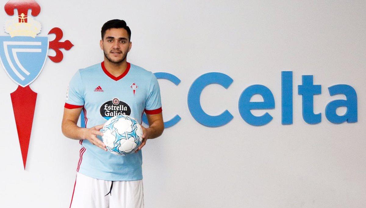 El Celta presentó este miércoles al delantero uruguayo Maxi Gómez como su nuevo jugador. (Foto Prensa Libre: Celta)