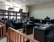 La audiencia se celebró en el juzgado de Mayor Riesgo A. (Foto Prensa Libre: Carlos Hernández)