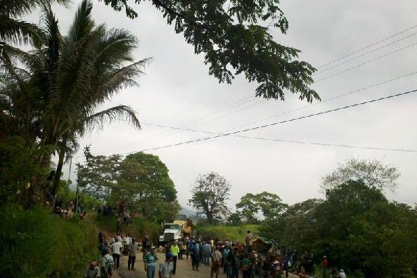 Las protestas afectaron al menos a tres municipios.