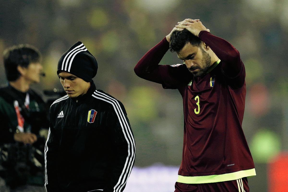 El jugador de Venezuela lamenta la eliminación (Foto Prensa Libre: AP)