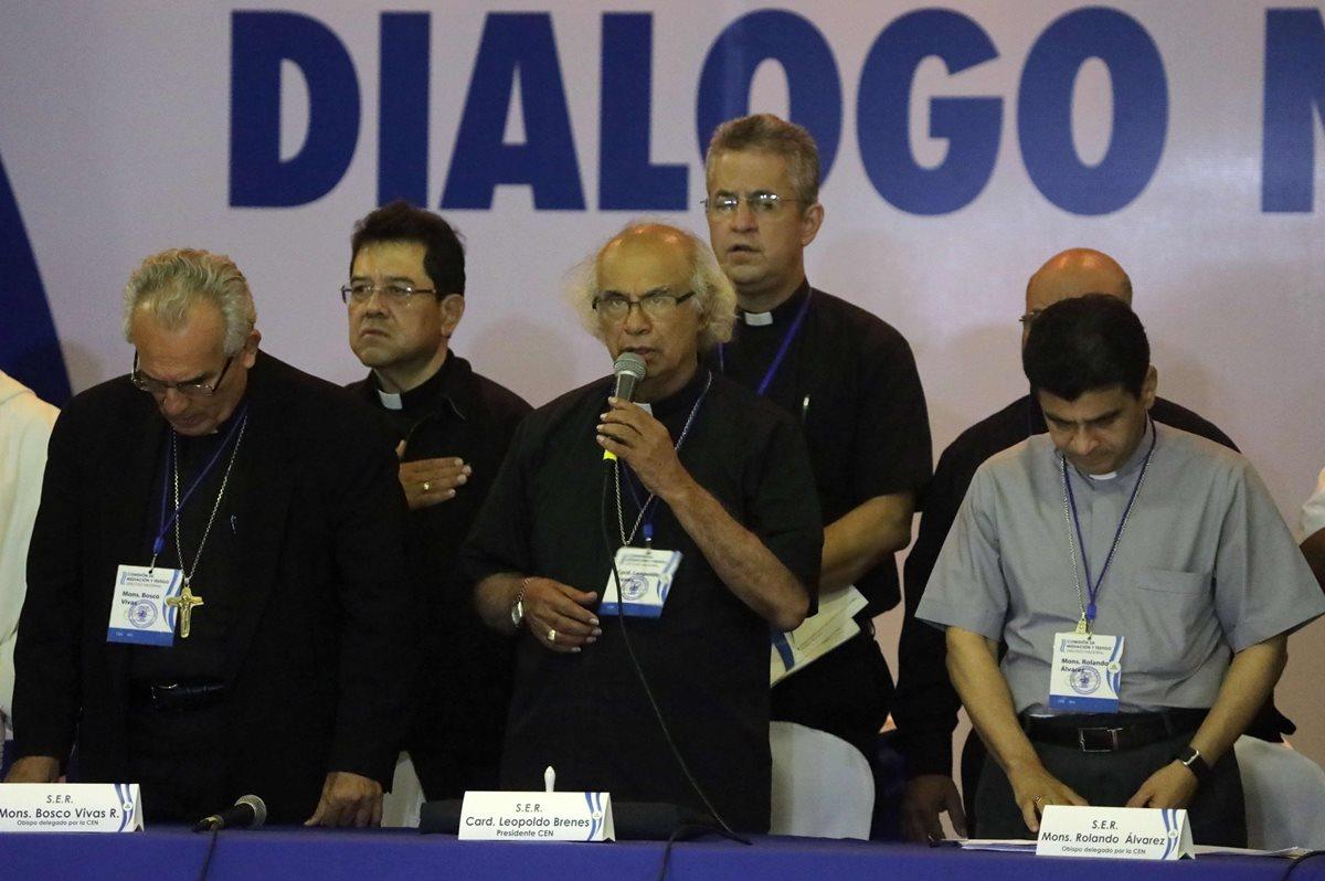 Obispos expresaron que no se rendirán a pesar de amenazas en el acompañamiento del diálogo en Nicaragua. (Foto Prensa Libre: AFP)