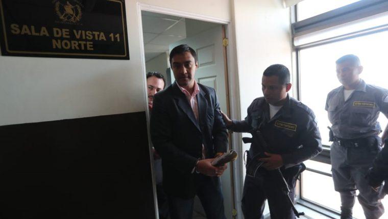Otto Fernando Molina Stalling, hijo de la magistrada judicial Blanca Stalling, está señalado. (Foto Prensa Libre: Erick Avila)
