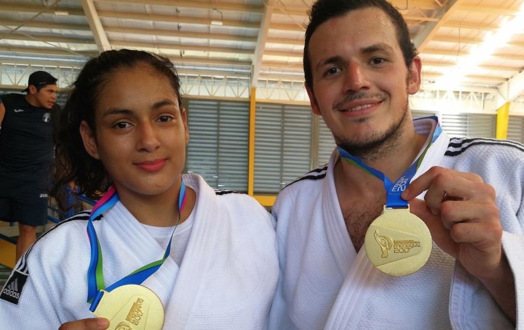 Este sábado Guatemala subió por partida doble a lo más alto en la competencia de Judo. (Foto Prensa Libre: Carlos Vicente)