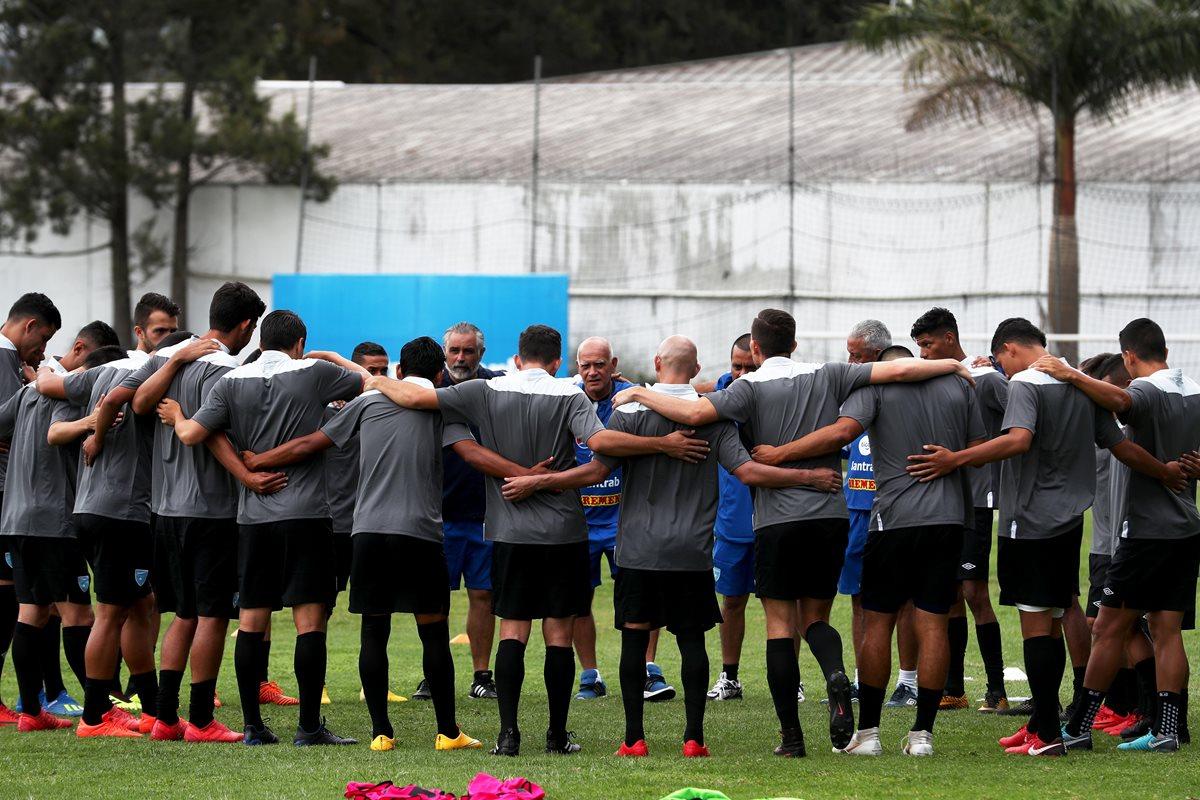 La unión y fe se respiran en las concentraciones de la Selección Nacional en el Proyecto Goal. (Foto Prensa Libre: Edwin Fajardo)