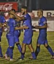 Danilo Guerra abrió el marcador en un apretado juego contra el equipo huehueteco. (Foto Prensa Libre: Aura Anderson)