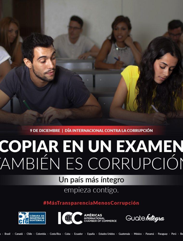 Una muestra de la campaña que se lanzó desde el sector empresarial contra la corrupción. (Foto Prensa Libre)