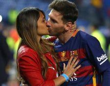 La boda de Lionel Messi con Antonella Roccuzzo se realizará a finales de mes en la Ciudad de Rosario, Argentina. (Foto Prensa Libre: Hemeroteca PL).
