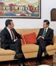 Los mandatarios sostuvieron ayer la primera reunión en el Hotel Casa Santo Domingo, Antigua Guatemala.