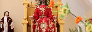 La imagen de Jesús de la Buena Esperanza llegó a Jalapa en 1918. (Foto Prensa Libre: Hugo Oliva)
