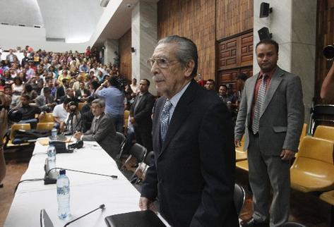 El 10 de mayo del 2013, el militar retirado José Efraín Ríos Montt  fue condenado a 80 años de prisión por genocidio, pero 10 días después la Corte de Constitucionalidad anuló el fallo.