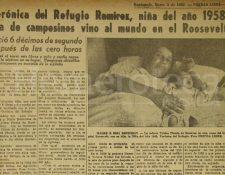 Verónica del Refugio Ramírez Urbina fue la Niña del Año 1958. (Foto: Hemeroteca PL)