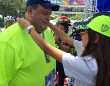Carlos Ponce al momento de ingresar a la meta de la prueba. (Foto Prensa Libre: Cortesía 21K Ciudad de Guatemala)
