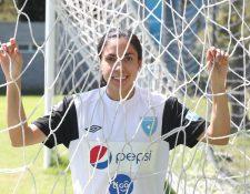 Ana Lucía Martínez, es la figura de la Selección Femenina de Guatemala. (Foto Prensa Libre: Edwin Fajardo)