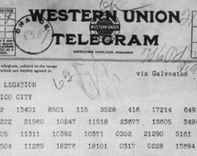 Este es el telegrama que cambió la suerte de la Primera Guerra Mundial. NARA