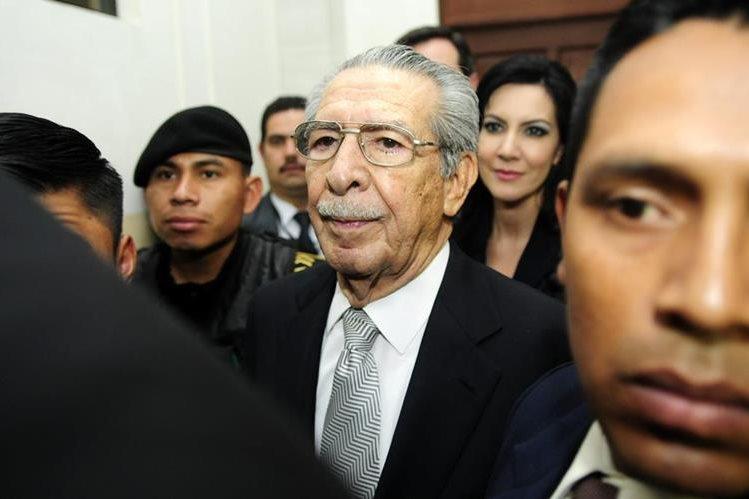 El general Efraín Ríos Montt falleció a los 91 años el 1 de abril último, por un infarto. (Foto Prensa Libre: Hemeroteca PL)