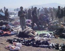 Mueren varias personas por ataque con bomba en mercado de Pakistán. (Foto Prensa Libre: AFP)