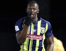 Usain Bolt espera demostrar su talento en el futbol de la liga de Australia. (Foto Prensa Libre: AFP)
