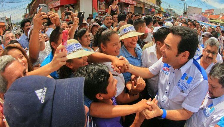 El partido FCN-Nación llevó a la Presidencia a Jimmy Morales. (Foto: Hemeroteca PL)