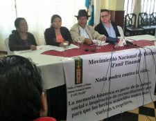 Representantes de Q'anil Tinamit exponen sus críticas por el manejo del PNR. (Foto Prensa Libre: Estuardo Paredes)