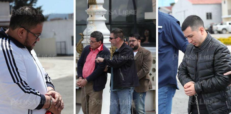 Los cuatro extraditados fueron enviados a Nueva York para enfrentar procesos por delitos de narcotráfico. (Foto Prensa Libre: Estuardo Paredes)