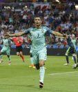 Cristiano Ronaldo celebra la anotación conseguida este miércoles frente a Gales, en las semifinales de la Eurocopa 2016 (Foto Prensa Libre: AP)