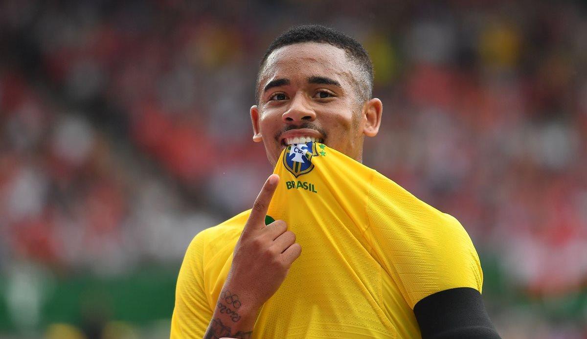 Gabriel Jesus es una de las figuras de la selección brasileña. (Foto Prensa Libre: AFP)