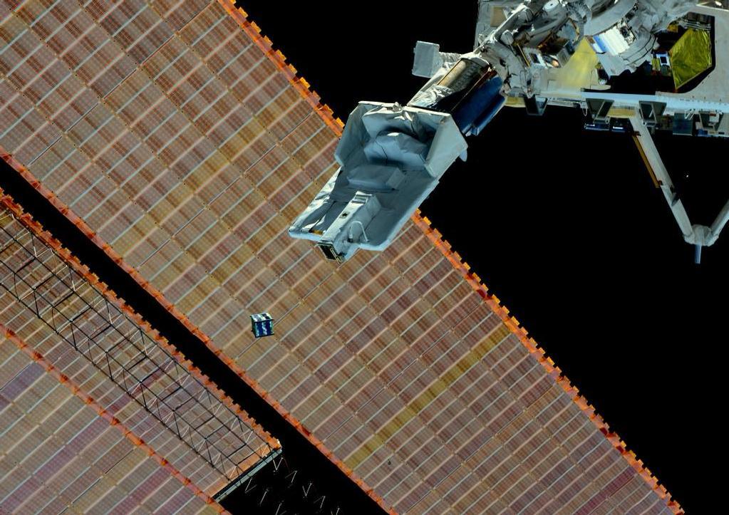 Desde el módulo japonés Kibo se lanzará el primer satélite guatemalteco en el 2019. (Foto Prensa Libre, unoosa.org)