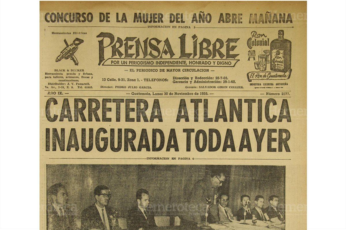1959: inauguración de la carretera al Atlántico